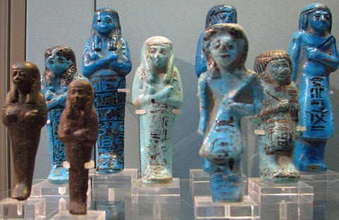 Shabtis of Psusennes and Wendjebauendjed (British Museum)