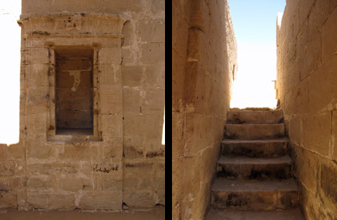 Sanctuary niche and Staircase