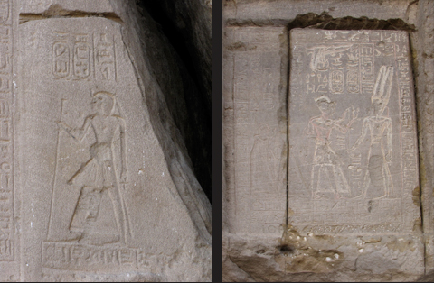 Amenhotep I (left) & Stele of Merenptah (right)