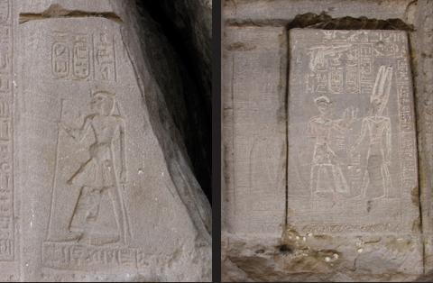 Amenhotep I (left) & Stele of Merenptah (right)